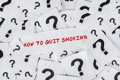 How to quit smoking Stock Illustration