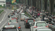 Stock Video Footage of Thailand Bangkok 002 traffic jam on the bongkok highways