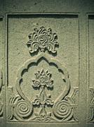 carved part of lord shiva temple at mahadji shinde chatri, wanawadi, pune, ma - stock photo