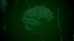 Digital Brain 1 Stock Footage
