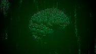 Stock Video Footage of Digital Brain 1