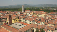 Orange Rooftops of Lucca Italy - 29,97FPS NTSC Stock Footage