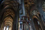 Stock Photo of pillars and archs at stephansdom, st. stephen's cathedral in vienna austria
