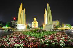 Thai democracy monument Stock Photos