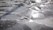 Stock Video Footage of ice on the river, dolly 18