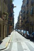 Sreet in old quarter of barcelona Stock Photos