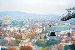 Tbilisi cable car Stock Photos