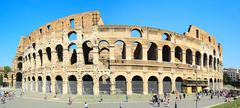 famous coliseum in rome - stock photo