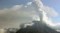 Tungurahua Volcano, Ecuador in eruption February 2014. Timelapse - stock footage