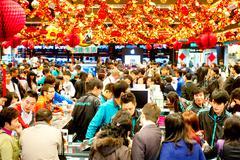Hong kong shopping Stock Photos