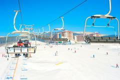 Carpathians ski resort Stock Photos