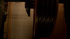 Elevator shaft motor - stock footage