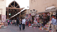 Stock Video Footage of Traditional Shopping Mall Arabian Old Souq Souk Dubai People Merchants Bazaar