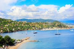 azure coast - stock photo