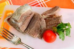 meat for broth - stock photo