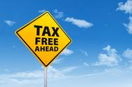 Stock Illustration of tax free ahead
