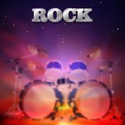Abstrakti rock-musiikin tausta Piirros