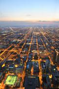 Ilmakuva kaupunki Chicago Kuvituskuvat