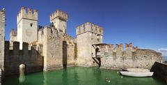 Ancient fortification in sirmione. Stock Photos