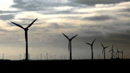 Stock Video Footage of Windmills High Contrast, Wideangle
