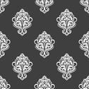 Stock Illustration of geometric seamless pattern with floral motifs