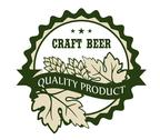 Stock Illustration of craft beer design label for a premium product