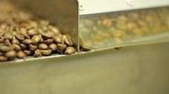 Coffee Roasting factory coffee beens Stock Footage