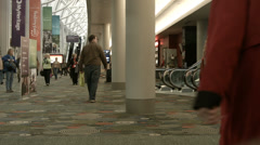 Conference center Salt Lake City people fast motion HD BM 1504 Stock Footage