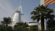 Stock Video Footage of Dubai Burj Al Arab Luxury 7 Stars Hotel Beautiful Building United Arab Emirates