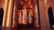 Stock Video Footage of Reykjavik Church Pipe Organ
