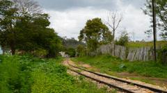 Historic steam train in Tiradentes Stock Footage