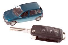 Car and car key Stock Photos