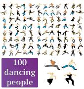 Dancing people Stock Illustration