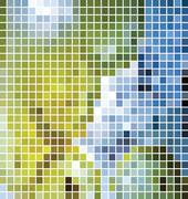 Stock Illustration of vector mosaic background
