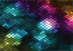 vector mosaic background - stock illustration
