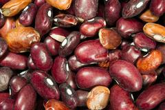 Pile of dried kidney beans dry unrinsed healthy food staple Stock Photos
