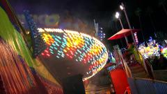 Carnival Ride at Night - DiskO Stock Footage
