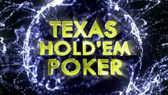 TEXAS HOLD'EM POKER Gold Text in Particles Stock Footage