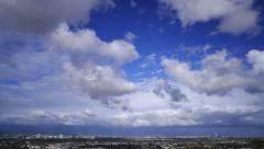 Los Angeles Timelapse 04 Clouds Stock Footage