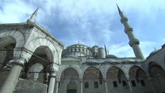 Blue Mosque(Sultan Ahmed Mosque) in Istanbul, Turkey Stock Footage