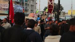 Chehlum Procession in Karachi - stock footage