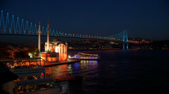Turkey.Istanbul.Ortakoy.Bosphorus. Stock Footage
