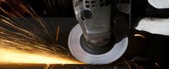 grinding closeup - stock photo