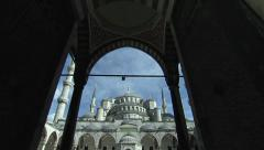 Blue Mosque ( Sultan Ahmet Mosque)  in Turkey Stock Footage