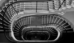 Dark staircase Stock Photos