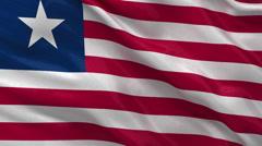 Flag of Liberia - seamless loop Stock Footage