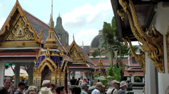 Thailand Bangkok 061 majestically buildings of the royal palace Stock Footage