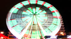 HD Ferris Wheel Close Shot Timelapse Stock Footage
