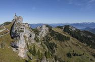 Stock Photo of View of mountains from the summit of Wendelstein, Bavaria, Germany