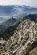 View of mountains from the summit of Wendelstein, Bavaria, Germany Stock Photos